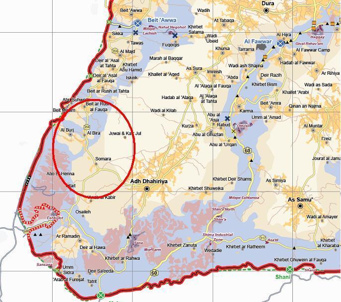 Mappa area progetto